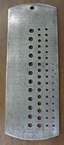 Starrett Drill & Wire Gauge Time Saver