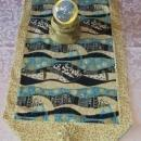 Blue Wave Table Runner Table Decoration