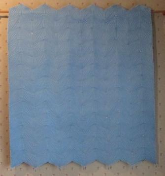 Quilt Wall Hanging French Blue Crystals & Beads