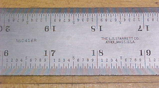 Starrett No. 0416R Heavy Steel Rule 36