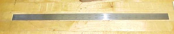 Starrett 11/32 Shrink  inch Steel Rule 24