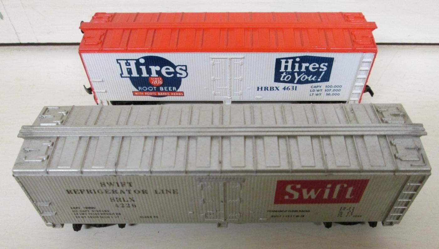 Train Cars HO Scale Swift & Hires Root Beer Box Cars