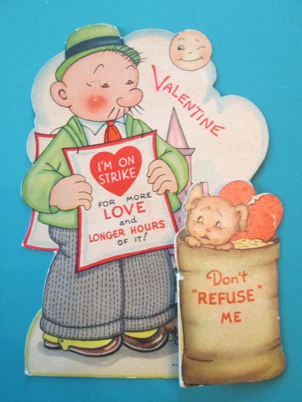 Wimpy Valentines Card 1940 USA