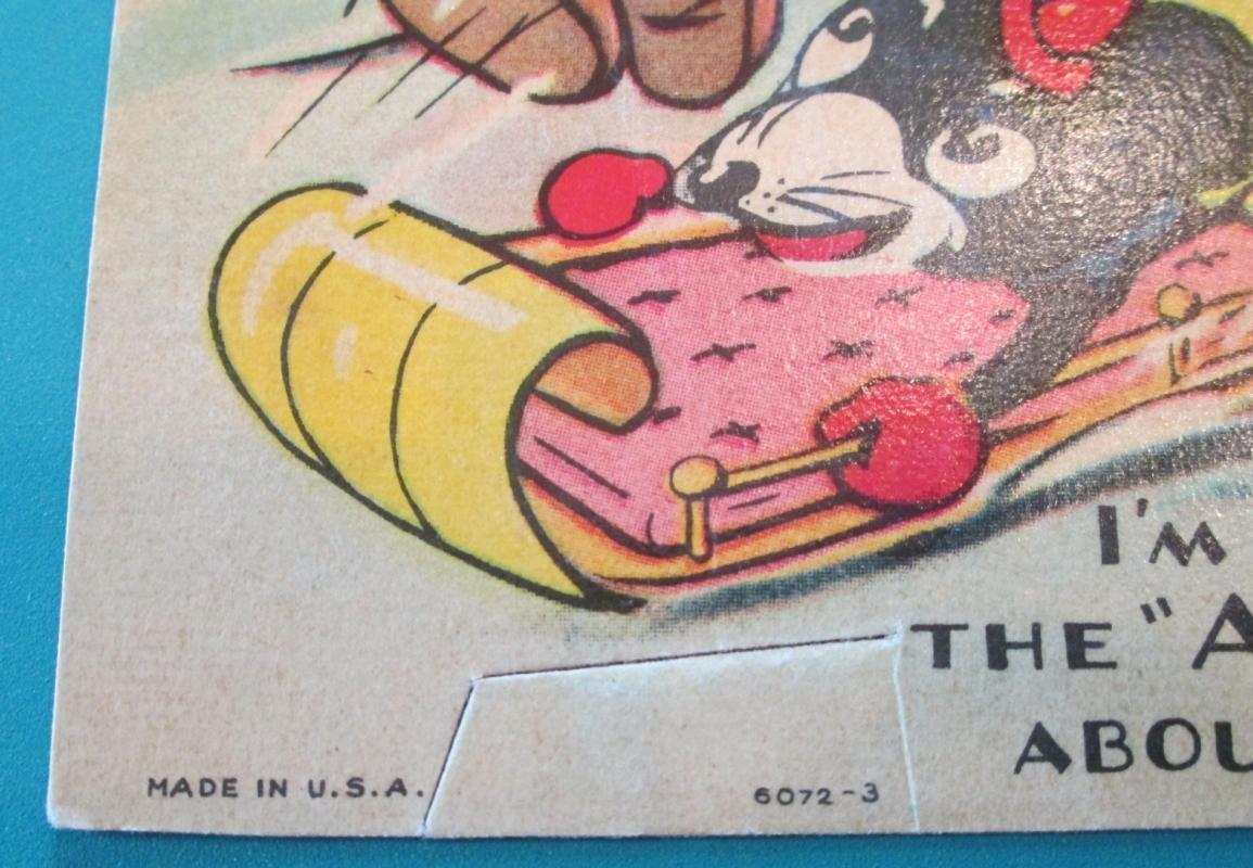 Mickey Mouse & Minnie Valentines Card Sled 1936 USA