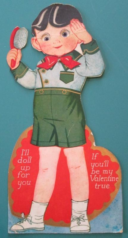 Afalfa Valentines Card 1930's Little Rascals