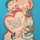 Katzenjammer Kids Valentines Card 1930's Mechanical