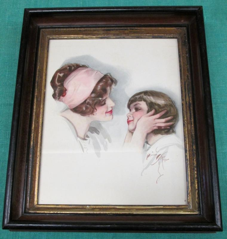 Harrison Fisher Print All Mine Framed