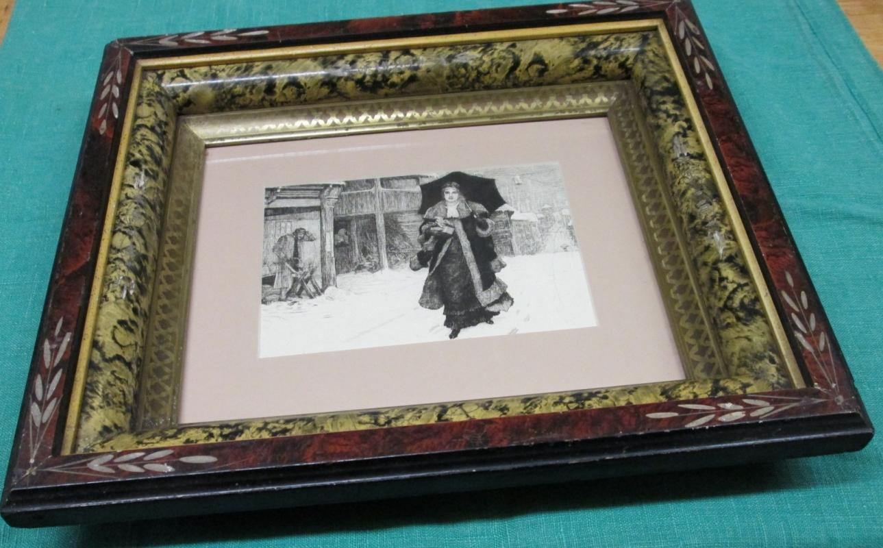 Lady Bountiful Etching Framed Print