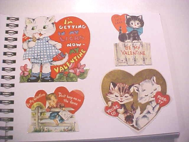 Valentines Card Collection 1940-50's 94 Pc + Decorated Album