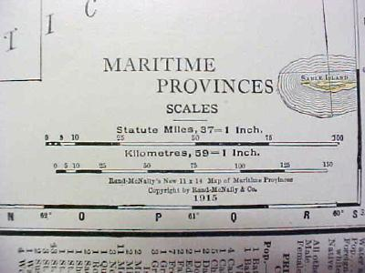 Map Maritime Provinces 1916 Nice Details & Colors