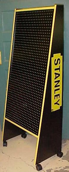 Stanley Free Standing Store Display w/Casters New