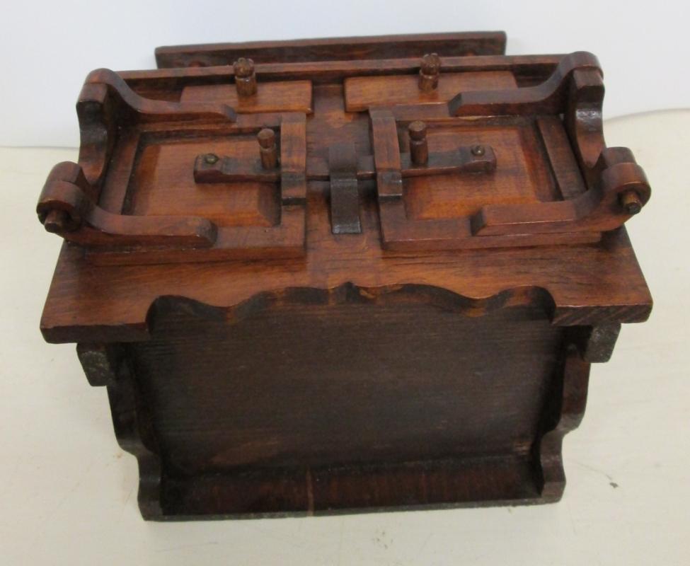Folk Art Bakers Cabinet Miniature Wood Medium Doll Size