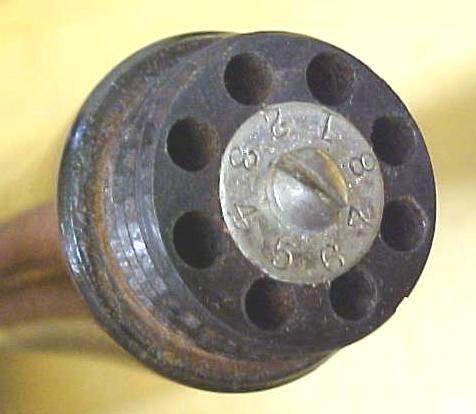 Millers Falls Yankee Push Drill w/8 drill bits Rosewood!