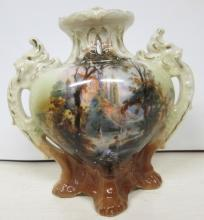 Royal Bayreuth Handle Vase 1902+ Bathing Beauties
