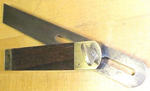 Antique Rosewood Brass T Bevel Gauge 8 Inch