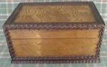 Wood Box Folk Art Solid Cherry Oak