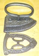 Antique Sadiron & Trivet W H Howell 1800's Flat Iron