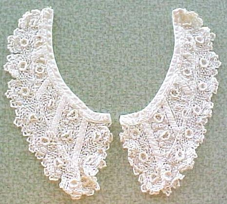 Ladies Lace Collar  Raised Floral