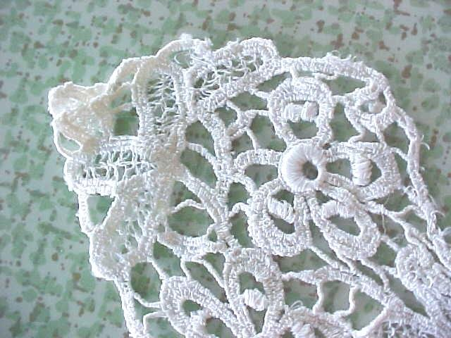 Vintage Lace Collar Ladies Floral