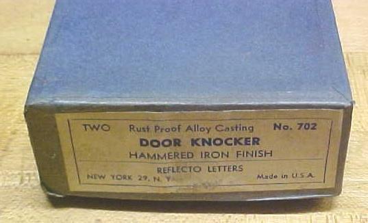 Antique Hammered Door Knocker (2) in Original Box