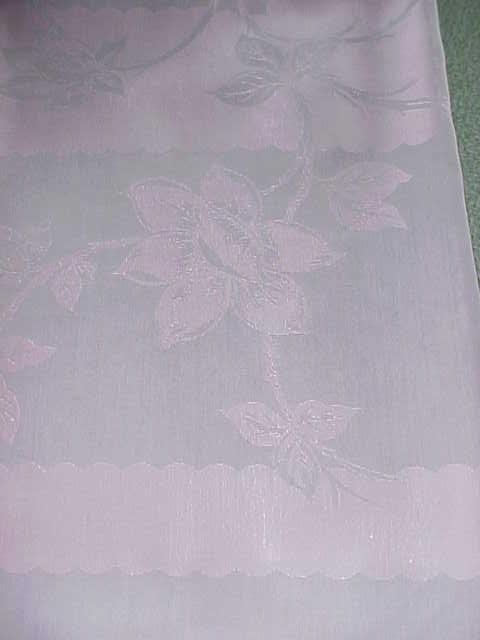Damask Tablecloth Gray Pink 60 x 96 + 12 Napkins