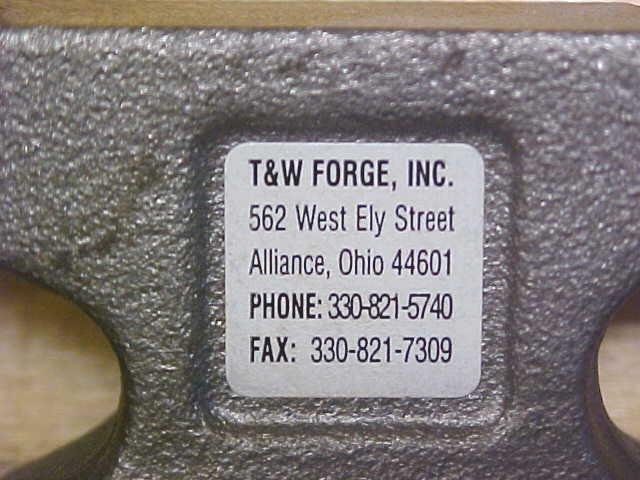 T & W Forge Cast Anvil Mini Advertising