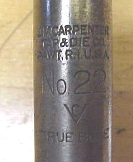 J.M. Carpenter 7/16-14 Die Threading  Wrench No. 22