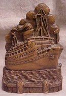 Syroco Wood Brush Holder Ocean Liner