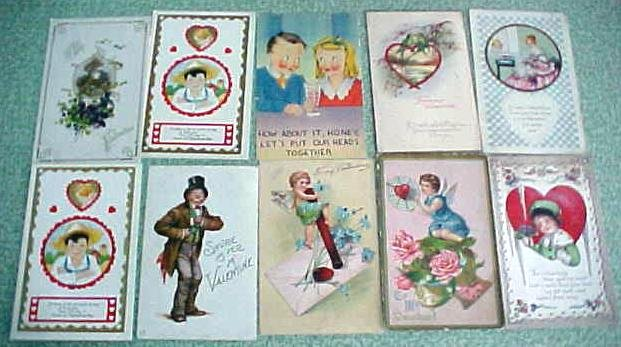 Antique Postcard Lot Valentines New Years Easter 49PC