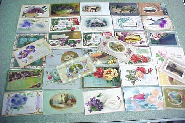 Vintage Postcard Lot Birthdays Greetings 1900's 78PC