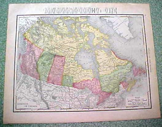 Antique Map Alaska Canada 1912