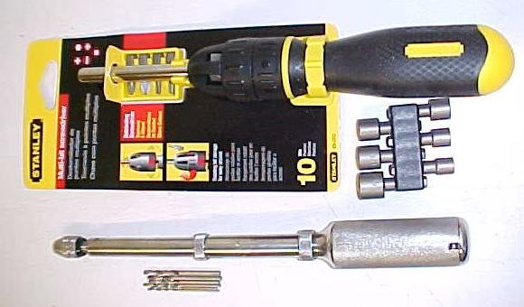 Yankee Push Drill w/ Drill Adapter & Ratchet Screwdriver Combo