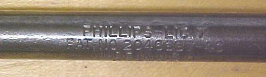 Bridgeport Phillips Screwdriver Patented 1935 Era 14 inch