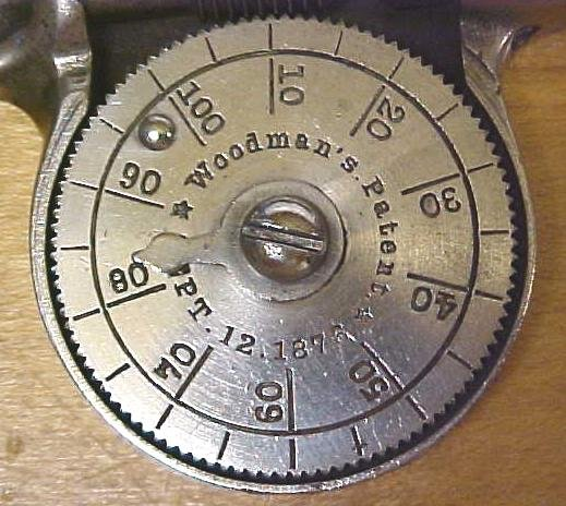 Woodman's Tachometer Speed Indicator Ornate 1876 Patent Tachometer