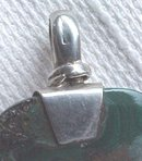 Sterling Silver Malachite Pendant Large Exquisite