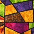 Quilt Stained Glass Throw Wall Hanging 45 x 60