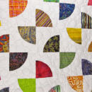 Dancing Fans Abstract Throw Quilt Colorful