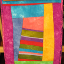 Modern Art Quilt Hand Dyed Fabrics Leaning Tower of Pisa