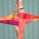 Art Quilt Spinning Stars  Abstract Rhinestones