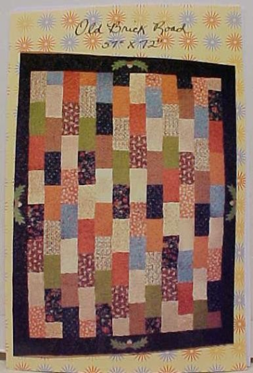 Quilt Pattern Old Brick Road 54 x 72 Scrappy Quilt