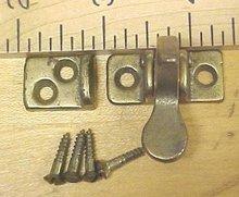Brass Double Door Inside Spring Latch Set