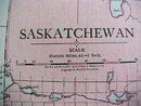Antique Map Saskatchewan Alberta 1916 Rand McNally