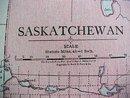 Antique Map Saskatchewan Alberta 1916 Rand McNally