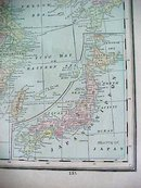 Antique Map China 1894 Large Foldout