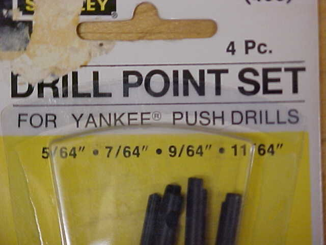 Stanley Yankee Push Drill Point or Bit Set 04-070