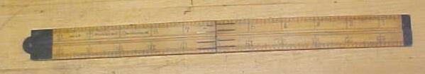 Stephens & Co. No. 42 Boxwood Folding Rule 2 foot 4 fold
