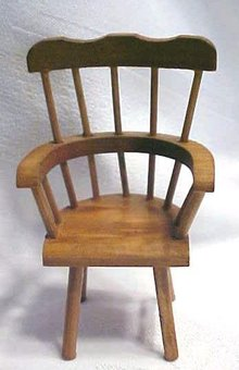 Doll House Windsor Chair & Table Wood