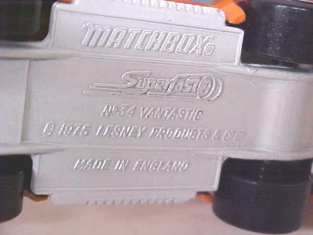 Matchbox No. 34 Vantastic MIB