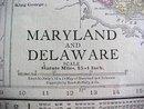 Antique Map Maryland Delaware Baltimore 1912