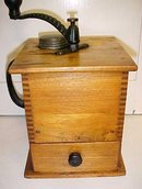Sun Challenge Antique Box Coffee Mill Grinder Large